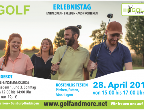Der Golf Erlebnistag am 28.04.2018 – Tag der offenen Tür bei Golf&more !