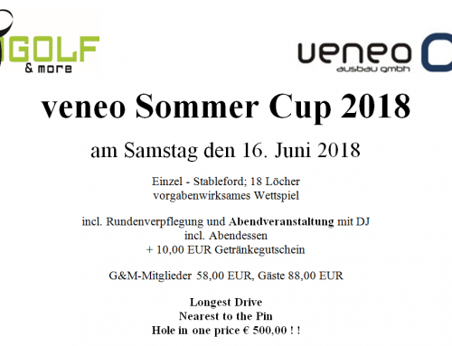 Jetzt anmelden! Der veneo Sommercup 2018