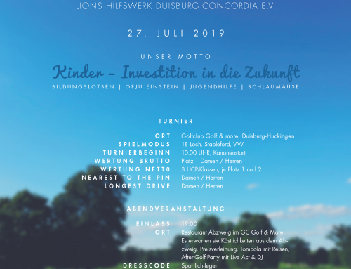 Lions Cup 2019 / Jetzt anmelden