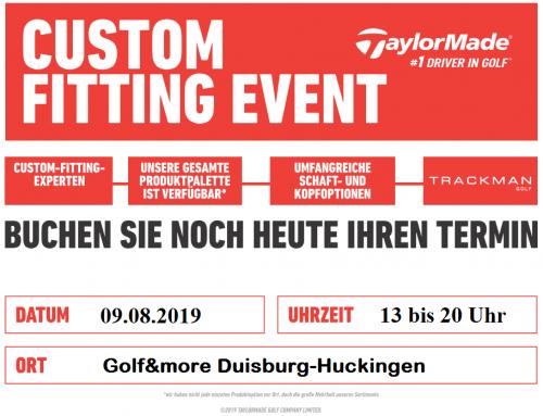 TaylorMade Custom Fitting am 09.08.2019