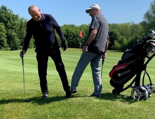 Gäste immer willkommen, jetzt auch wieder auf dem Golfplatz