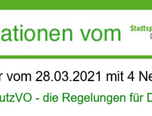 Geänderte Kontaktbeschränkungen zu Ostern / Vom 01. bis 05. April